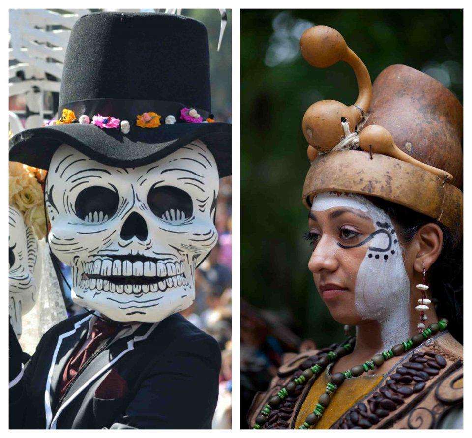 Día de los muertos México, festival vida y muerte Xcaret, vida y muerte