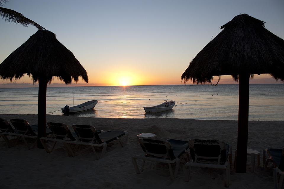isla mexico, isla playa mexico, playa mexico, puesta sol mexico, puesta sol