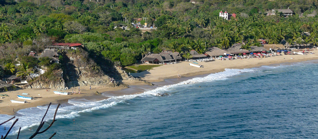 Playa Mazunte aérea, Playa Mazunte Oaxaca, Playa Mazunte México, Playa Mazunte costa