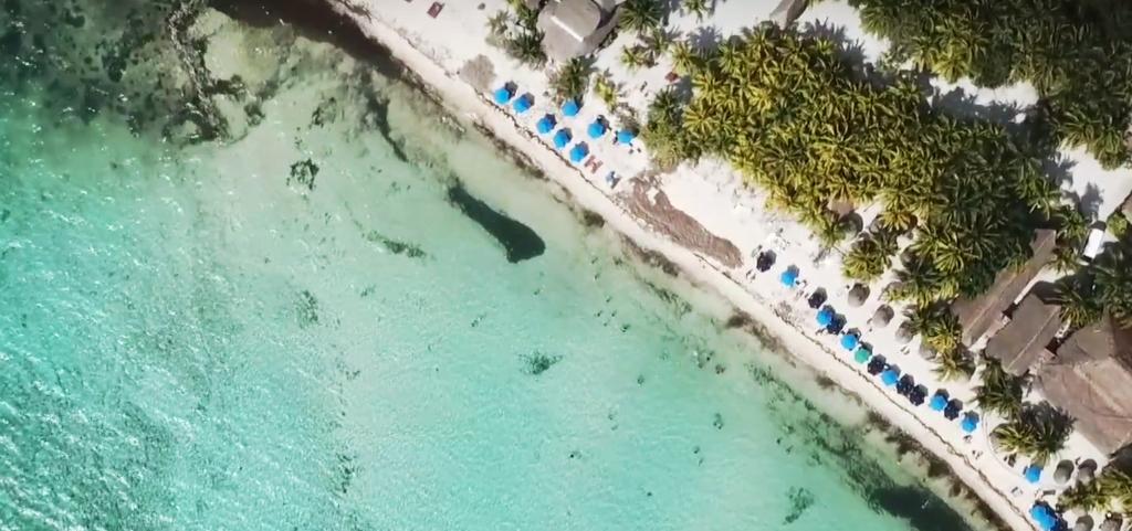 Vista aérea Playa Palancar, Vista aérea Playa Palancar Cozumel